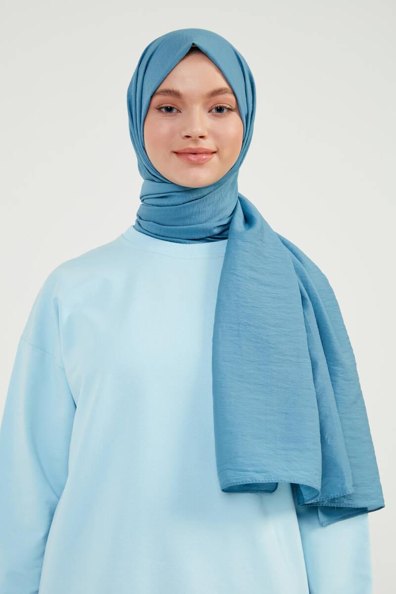 Mavi Krinkıl Şal - KK08
