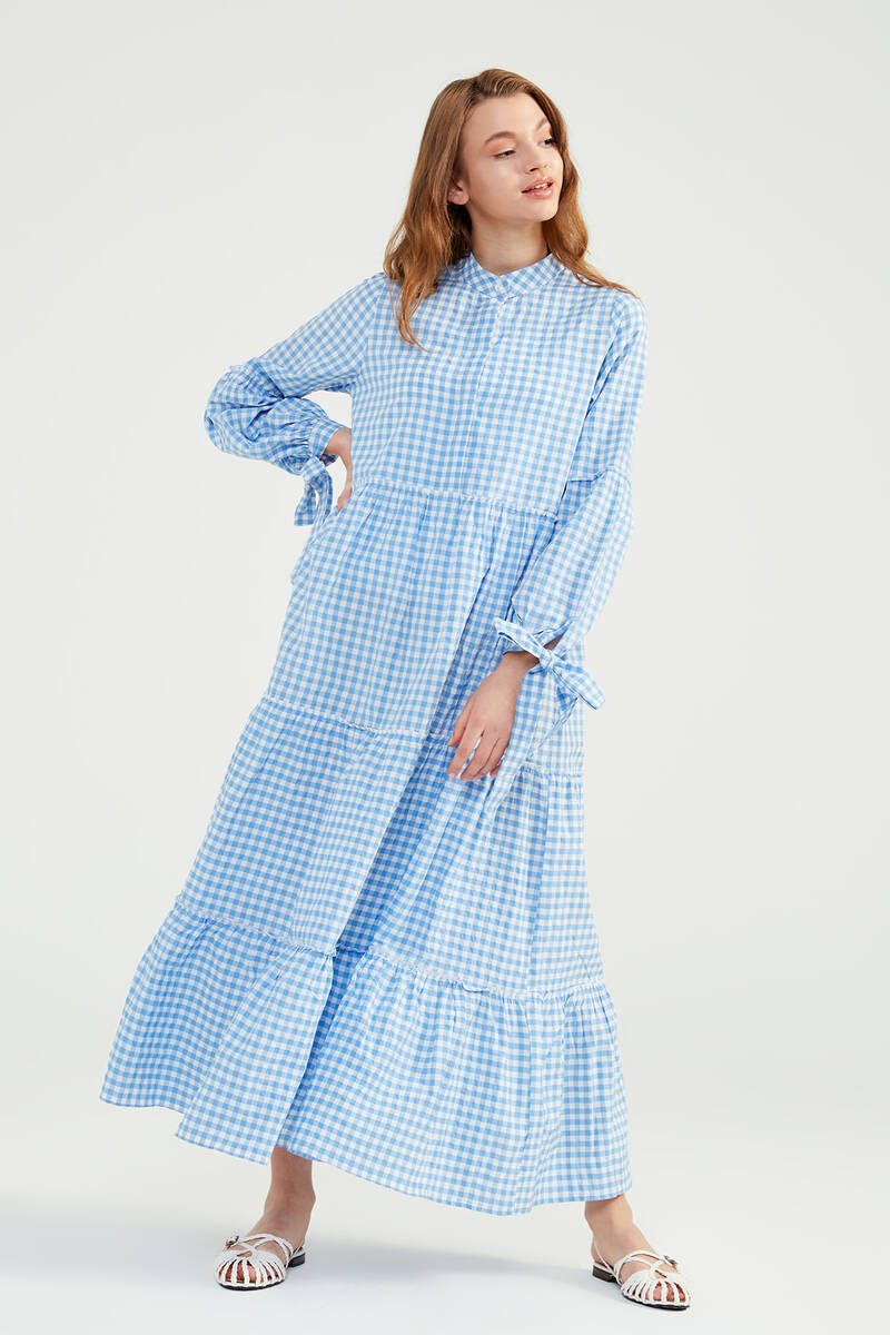 Bebe Mavi Doğal Kumaşlı Pöti Elbise - SS07