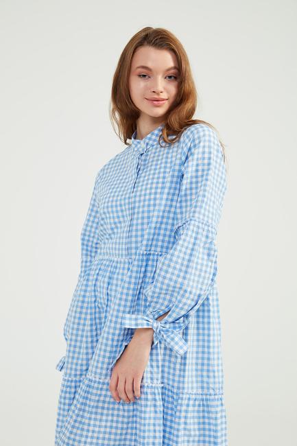 Bebe Mavi Doğal Kumaşlı Pöti Elbise - SS07 - Thumbnail