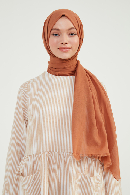 - Camel Pamuklu Şal - C01