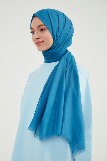 Mavi Pamuklu Şal - M02 - Thumbnail