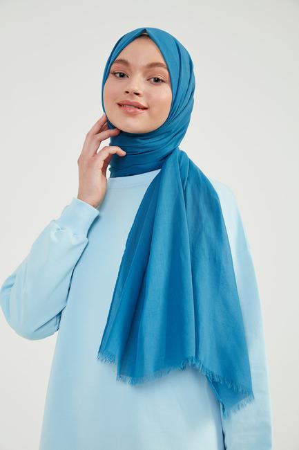 - Mavi Pamuklu Şal - M02