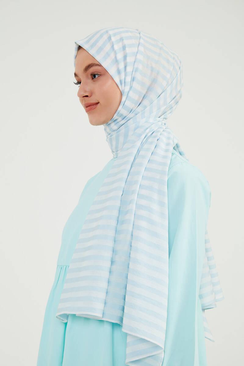 Bebe Mavi Çizgili Exclusive Şal - CV07